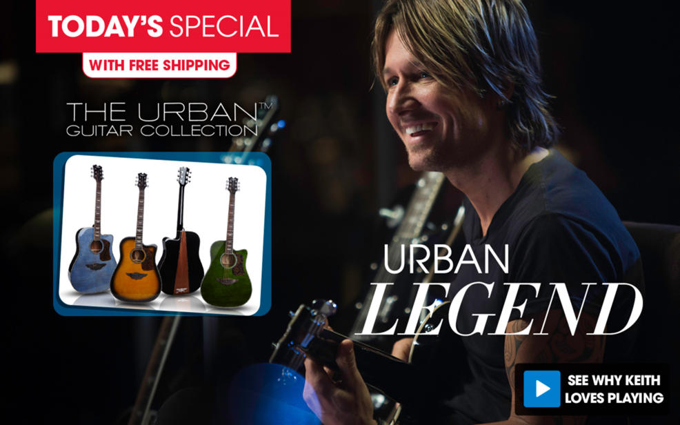 (HSN) Keith Urban 50-piece PLAYER Acoustic Guitar and 30-Lesson Package - TVShoppingQueens