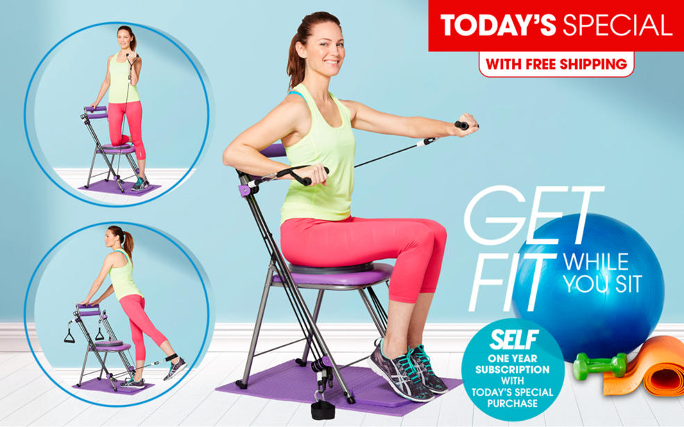 Hsn Chair Gym Deluxe Exercise System With Twister Seat