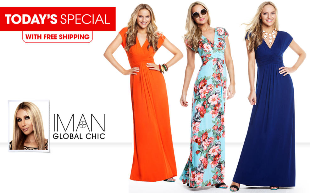 e29469a60f6 (HSN) IMAN Global Chic Luxury Resort Knockout Maxi Dres - TVShoppingQueens