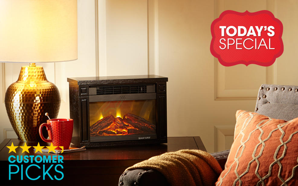 HSN) Heat Surge Mini Glo Infrared LED Fireplace Heater ...