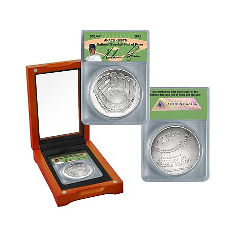 2014 MS70 Baseball HOF Nolan Ryan Silver Dollar Coin