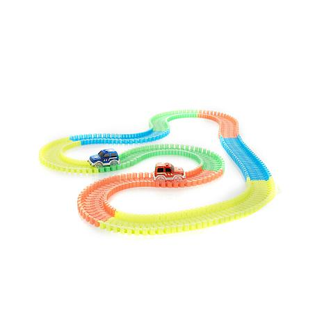 Bend A Path 13' Glow-in-the-Dark Track w/2 SUVs & Bag