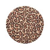 Clever Carriage Home Round Leopard Hooked Rug