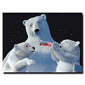 "Coca-Cola ""Polar Bear with Cubs"" Canvas Art"