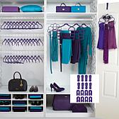 Huggable Hangers® 57pc Closet Must Have Set! - Chrome