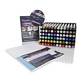 Spectrum Noir 72pc Marker Set w/Trays, Cardstock & DVD
