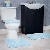 Super Plush 3pc Non-Slip Bath Mat Set- Mutiple Colors