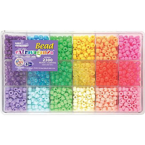 bead extravaganza bead box kit 19 3 4 oz pack pastel