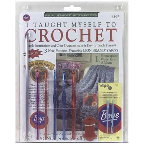 Crocheting Needles Beginners : Boyle Needle Company Beginners Crochet Kit - Book, Hooks and More ...