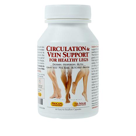 Circulation and Vein Support For Healthy Legs - 60 Caps
