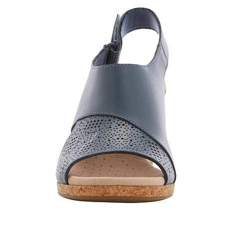 e664880eb85 Collection by Clarks Lafley Joy Leather Cork Wedge Sandal - 8866719 ...