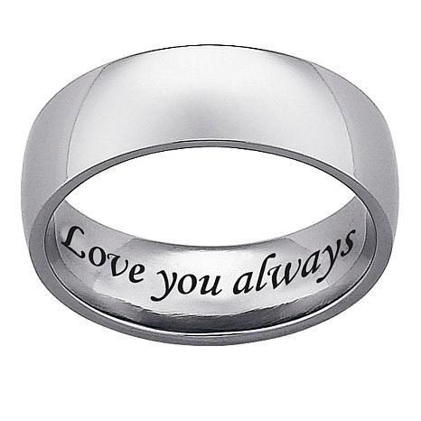 Engravable Titanium Wide Band Ring