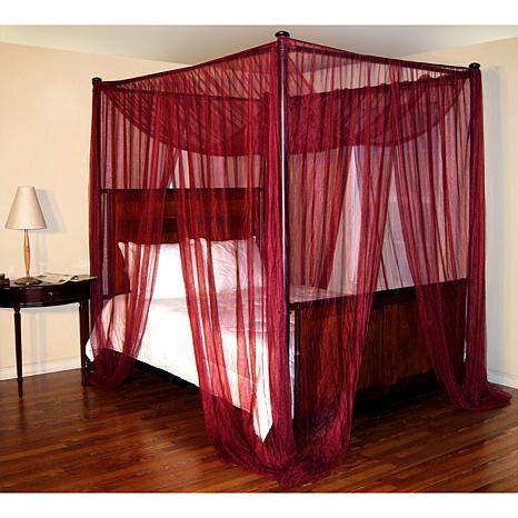 4 poster bed fabric canopy 6366533 hsn. Black Bedroom Furniture Sets. Home Design Ideas