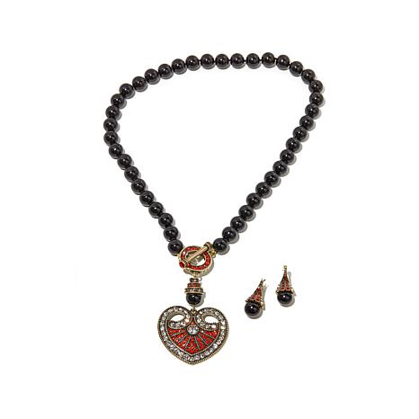 """Heidi Daus """"Distinguished Opulence"""" Necklace and Earrings ..."""