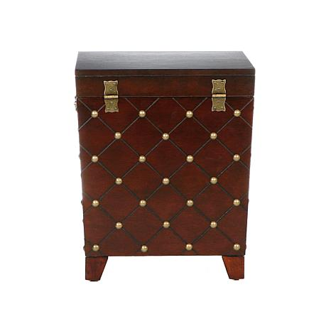 Nailhead End Table Trunk Espresso 6221871 Hsn