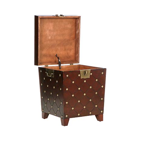Nailhead End Table Trunk - Espresso - 6221871  HSN