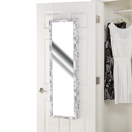 Over the door jewelry armoire with full length mirror for Cool full length mirror