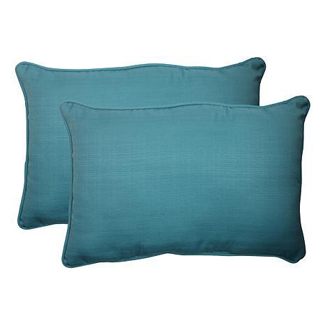Pillow Perfect Set Of 2 Outdoor Rectangular Throw Pillows