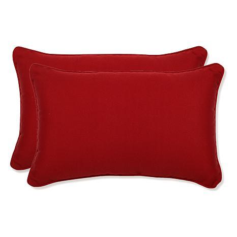 Pillow Perfect Set of 2 Pompeii Rectangular Throw Pillows - Red - 7408649 HSN