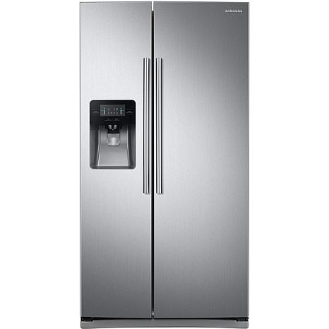 Samsung 25 Cu Ft Side By Side Refrigerator Stainless