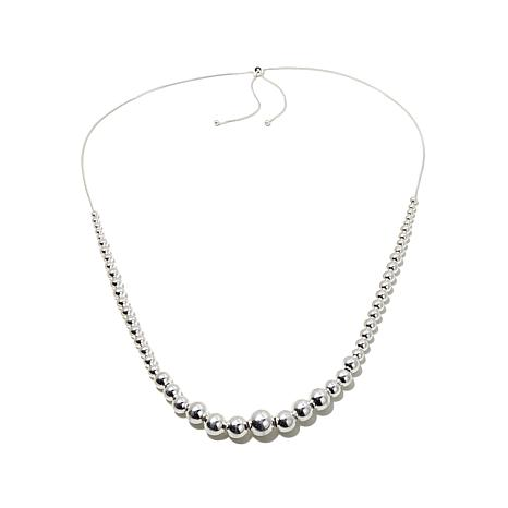 Sevilla Silver™ Adjustable Graduated Bead Necklace