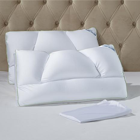 Tony Little Destress Micropedic Pillow With Pillowcases 2
