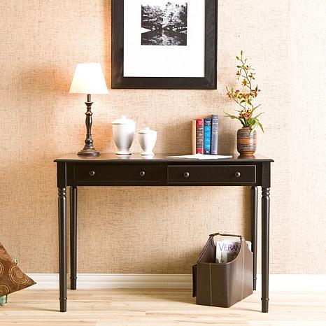 Two-Drawer Writing Desk - Black - 6221915 | HSN