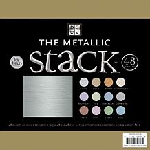 "12"" x 12"" Metallic Cardstock Stack - 48 Solid Sheets"