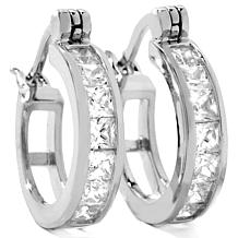1.4ct Absolute™ Princess-Cut Channel-Set Hoop Earrings