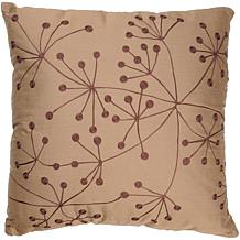 "18"" x 18"" Dandelion Pillow - Copper/Brown"