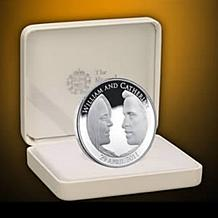 2011 Official Sterling Silver Royal Wedding Coin