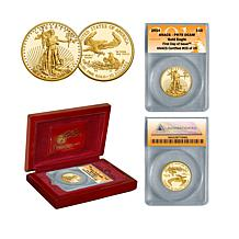 2014 PR70 ANACS FDOI LE of (25) $10 Gold Eagle Coin