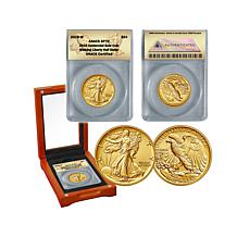 2016 SP70 ANACS Walking Liberty 24K Gold Half Dollar