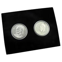 2pc Secret 1971 S-Mint Eisenhower Silver Dollars