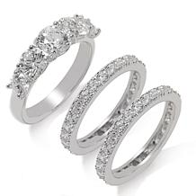 Absolute™ 5-Stone Ring and Eternity Bands 3-piece Set