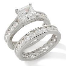 Absolute™ Princess Round Channel 2-piece Ring Set