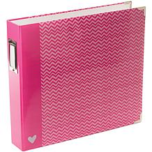 American Crafts D-Ring Album - 12inx12in/Blush
