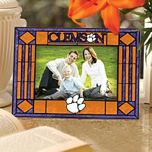 Art Glass Horizontal Picture Frame - Clemson