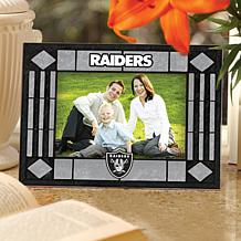Art Glass Horizontal Picture Frame - Oakland Raiders