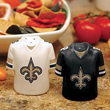 Ceramic Salt and Pepper Shakers - New Orleans Saints