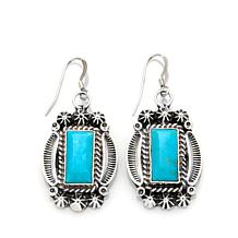 Chaco Canyon Kingman Turquoise Silver Star Earrings