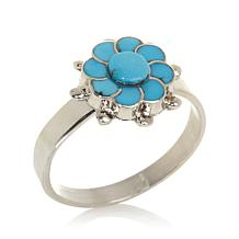 Chaco Canyon Turquoise/Silver Flower Ring
