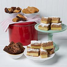 David's Cookies 32pc Brownies & Crumb Cakes in Red Tin