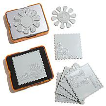 Fiskars Fuse 10pc Die and Plate Kit - Flower & Square