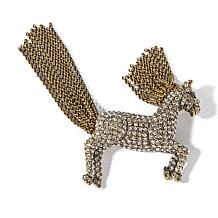 "Heidi Daus ""Tally-Ho"" Crystal-Accented Horse Pin"