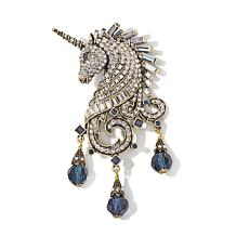 "Heidi Daus ""Untamed Beauty"" Crystal Unicorn Pin"