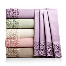 Highgate Manor 400TC Macrame Lace 4pc Sheet Set
