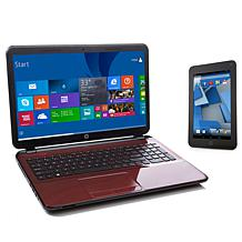 "HP 15.6"" Laptop and 7"" Tablet Quad-Core Bundle"