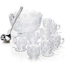Jeffrey Banks Freedom 10-piece Crystal Punch Bowl Set
