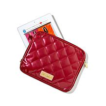 Joy & IMAN Iconic Quilted Patent Zippered Tablet Case